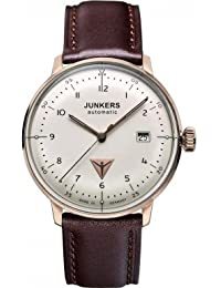 Junkers Herren-Armbanduhr Analog Automatik Leder 60584
