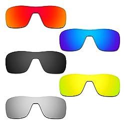 Hkuco Mens Replacement Lenses For Oakley Turbine Rotor Redblueblack24k Goldtitanium Sunglasses
