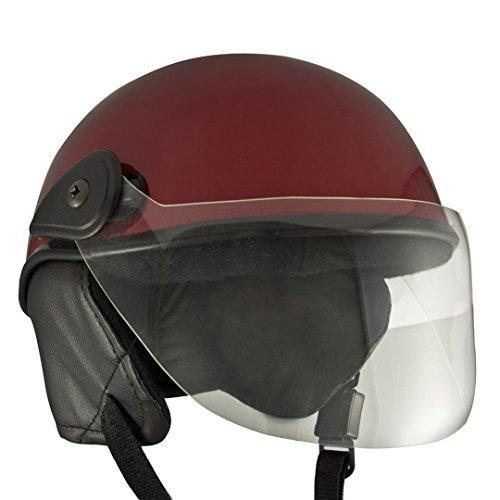 Anokhe Collections Women's PC Shell Racing Master Half helmet (Maroon)