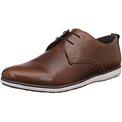 Red Tape Men's Tan Leather Casual Shoes