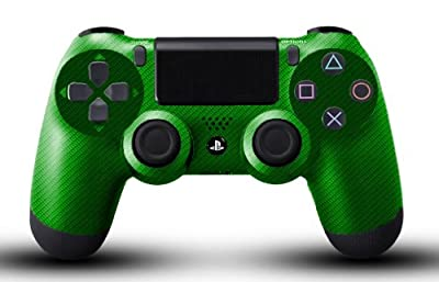 Custom PS4 Controller - Green Carbon