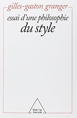 Essai d'une philosophie du style