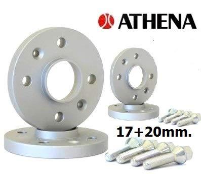 ATHENA.. Kit de 4 enjoliveurs 17 + 20 mm. Captures à partir de 2013 avec boulons en Acier.