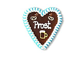 gingerbread heart - 18cm -Prost (cheers in German)