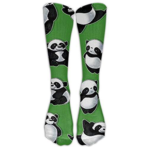Junge Spieler Basketball Kostüm - GOUK Cute Panda Bears Athletic Tube Strümpfe Damen Herren Classics Crew Strümpfe Sport Lange Socken Einheitsgröße, Unisex Jungen Damen, weiß, One Size