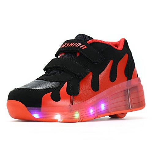 6cb4e5fa2a4a45 Wheelies Schuhe mit Rollen Rädern Skateboard Blinkschuhe Outdoor Sport  Kinderschuhe Led Licht Turnschuhe Leuchtend Sneaker Mädchen