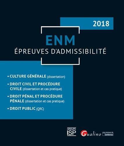 ENM - Épreuves d'admissibilité par Collectif