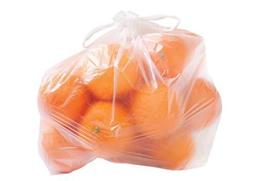 5000 Knotenbeutel Plastiktüten Hemdchentüten für Obst, Gemüse, usw. transparent 22+12x39cm Größe für 3kg auf Rolle - Inkl. Verpackungslizenz in D
