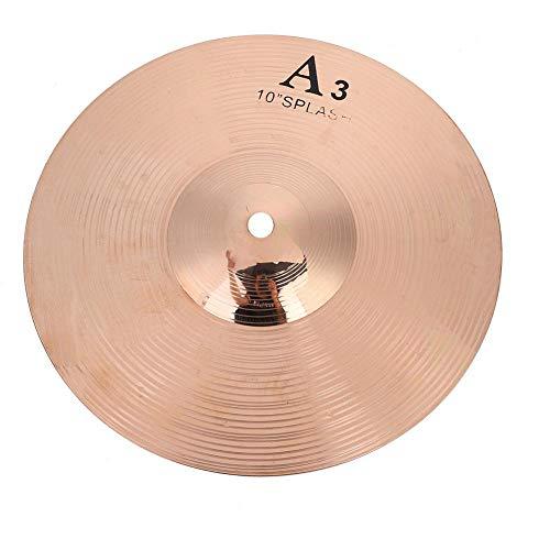 10 Zoll Brass Drum Cymbal, Durable Splash Becken Musikinstrument für Trommel