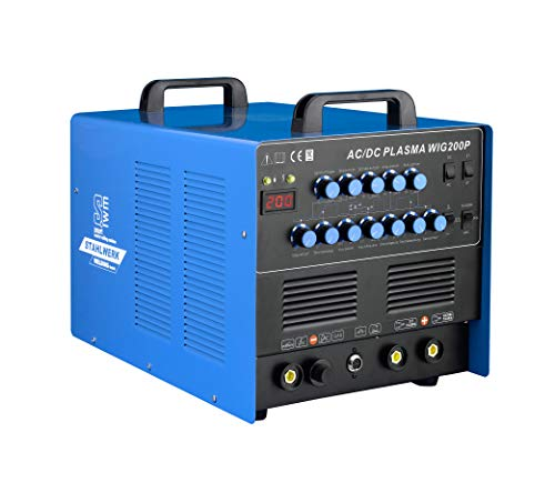STAHLWERK Schweißgerät AC/DC WIG 200 Puls Inverter mit Plasma ALU WIG ARC MMA Elektrode