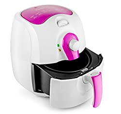 RNG EKO GREEN AIR FRYER 2.4-Litre 1400-W (Pink & Grey)