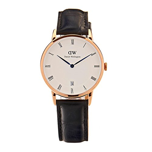 Daniel Wellington Women Analogue Quartz Watch with Leather Strap DW00100118