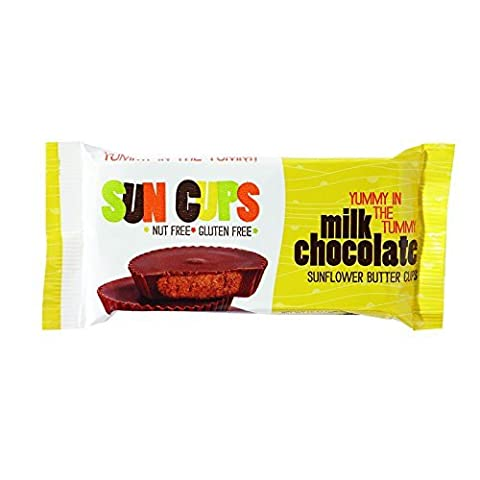 SunCup Sunflower Butter Cups - Milk Chocolate - 1.5 oz - Case of 12 - Kosher by Suncup