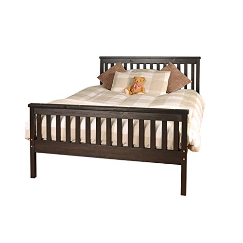 Comfy Living 5ft King Atlantis Style Wooden Pine Bed Frame in Chocolate