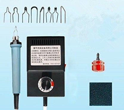 Pyrographie Maschine 220V tragbar Brandmal-Kolben Set mit 8Pcs Brennspitzen für Handwerk Holz Brennen Schnitzerei Dual Pen Pyrographie Werkzeug Professionelle Holz Brennen Kit