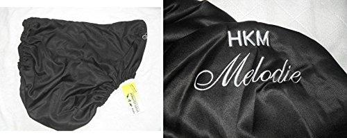 Sattelschoner Sattelschutzbezug schwarz mit Motiv Melodie