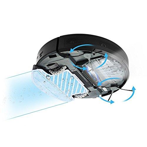 INLIFE Staubsauger Roboter mit hoher Saugkraft und HEPA Filter, entfernt Tierhaare und Staub, inkl. Fernbedienung und Touch Display für Nass- und Trockenreinigung - 2