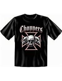 Totenköpfe Skulls Biker T-shirt Übergrößen 3XL 4XL 5XL Choppers Fb schwarz