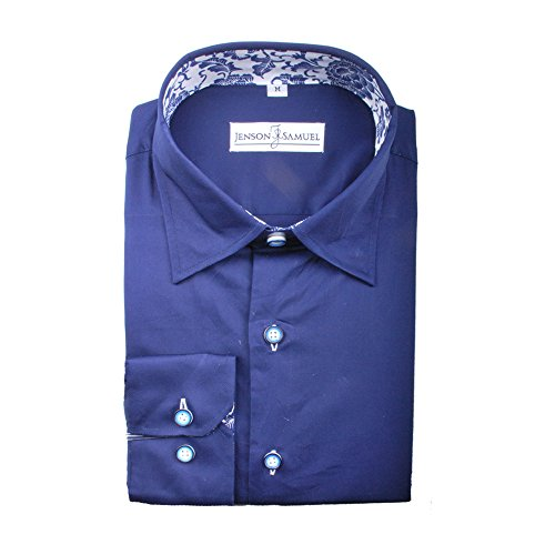 J S Shirts formale da lavoro, Casual, da uomo, Regular Fit, S-4XL & stili, colori assortiti Navy Flower