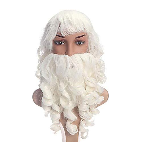 Weihnachtsmann Anzug Perücke Bart Hut Set Weihnachtsfeier Dekoration Requisiten ()