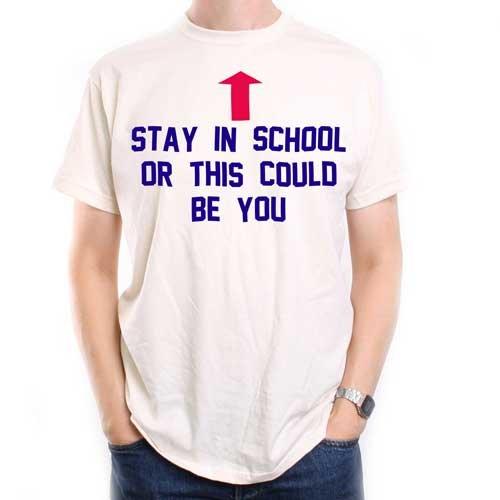 Old Skool Hooligans As Worn By Al Bundy in Married With Children T Shirt - Stay In School….