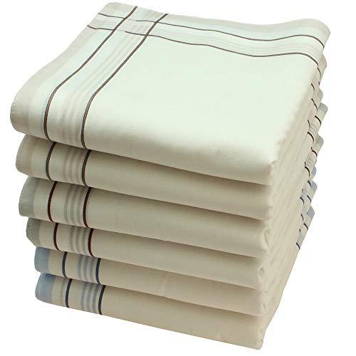 Royal Quality Stofftaschentücher 6 Stück ca.40x40cm reine Baumwolle Herrentaschentücher William