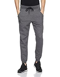 Under Armour Herren Rival Fitted Tapered Joggers, Carbon Heather, Lg