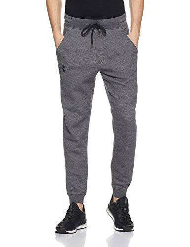 Under Armour, Rival Fitted Tapered Jogger, Pantaloni Sportivi, Uomo, Grigio (Carbon Heather/Black 090), M