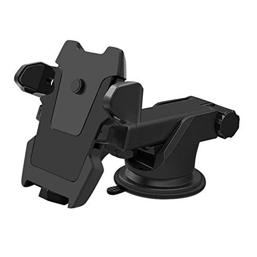 Car Phone Halter Universal Air Vent Car Halterung Halterung für die meisten Mobiltelefone, Smartphones Stoßfest Anti-Skid-Basis , black , a