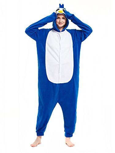 Kigurumi Pingouin Bleu Pyjamas Adultes Combinaisons Déguisement Animaux Cosplay Costumes M
