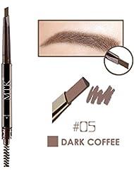 Weisy 4 Couleurs Crayon a Sourcils + Pinceau Double Tete Waterproof Maquillage de L'oeil Beauter Cosmetique