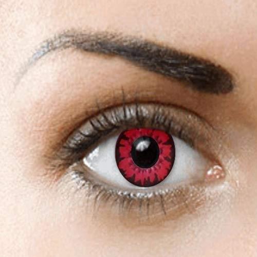 Sauron Kostüm Auge Von - PHANTASY Eyes® Farbige Kontaktlinsen Ohne Stärke (Vampire/Volturi) Bella; perfekt zum Halloween und Karneval, Jahres Linsen, 1 Paar crazy fun Contact linsen + Kontaktlinsenbelälter!