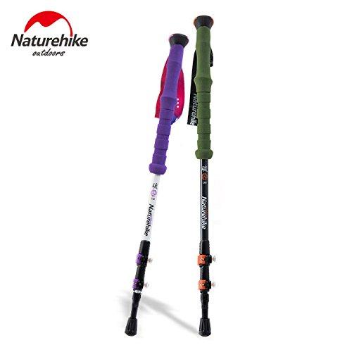 Naturehike Randonnée en fibre de carbone Canne bâton Trekking Pole Alpenstock Pour ultra-léger réglable 1PCS 3 Section 2 Couleur