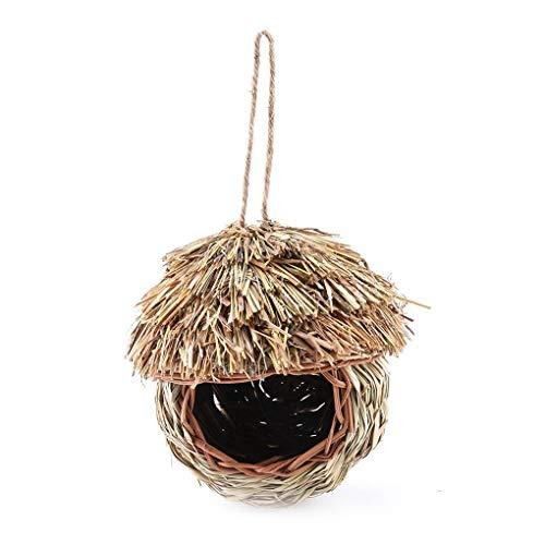 fgghfgrtgtg Handgemachte Birds Nest Naturrasen Ei Cage Spann Hängen Parrot Haus Außen Yard-Garten-Dekoration -
