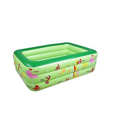 XSWZAQ Aufblasbarer Pool des Swimmingpoolbabykindes Familienbabywanne PVC aufblasbarer Swimmingpool