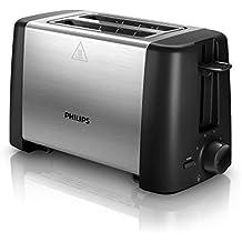 Philips HD4825/90 Tostadora 800 W, Acero Inoxidable, 2 Ranuras, Black,
