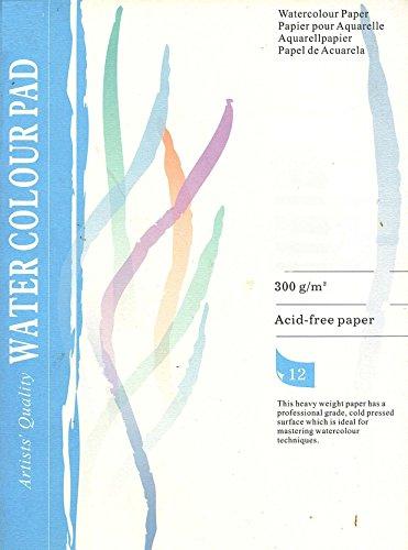 Aquarell Block A2 12 Blatt 300 g