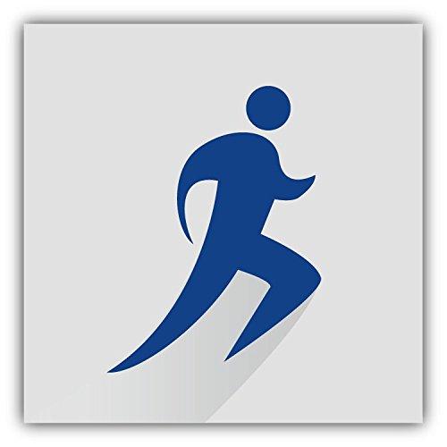 Running Sport Silhouette Stylish Hochwertigen Auto-Autoaufkleber 12 x 12 cm (Running-silhouette)