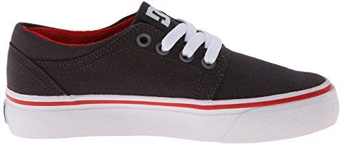 DC Shoes  Trase Tx B Shoe Dwa, Sneakers basses garçon Gris - Grau (DK SHADOW/WHITE/ATHLETIC RED- DWA)