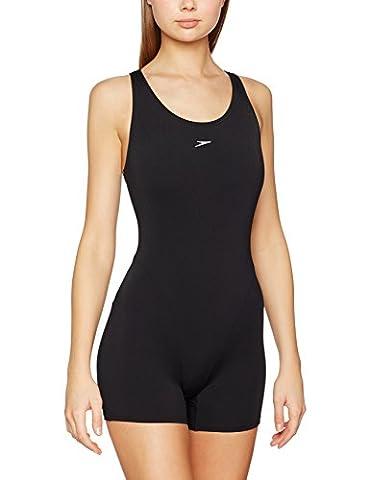 Speedo Women's Essential Endurance Legsuit Swimsuit - Black, 34
