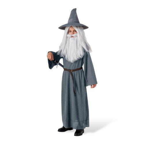 Der Hobbit - Gandalf Kinderkostüm 3-tlg Gandalf Kostüm f Kinder grau - M (Saruman Kostüm)