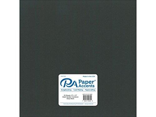 Papier Akzente 65LB Tief Schwarz Stash Baumeister, 30,5x 30,5cm (12x12 Schwarzen Cardstock Papier)