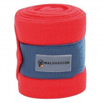 Waldhausen (AL) Fleecebandage Esperia, rot/dunkelblau, WB, 4er-Set, rot/dunkelblau