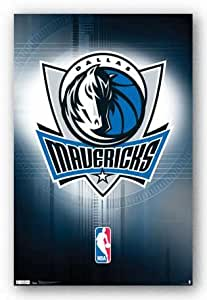 Dallas Mavericks Logo NBA Kunstdruck