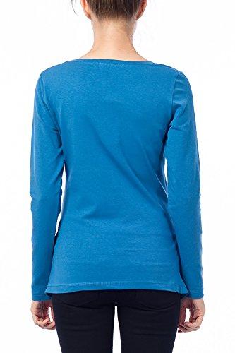 Mignon witzige umstand Mode T-shirt avec motif–See You Soon de grossesse à manches longues Bleu - Indigoblau