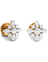 PC Jeweller The Ksenia 18KT Yellow Gold & Diamond Earring