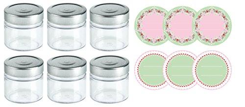 Dr. Oetker 3234vasos y Twist de Off Tapa, cristal, plata/verde/blanc