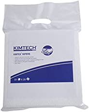 Kimtech Lint free Car Windshield Wiping Cloth, Reusable, Medium Size, 23.7 x 25.4 cm, Pack of 25, White, 60025
