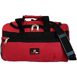 Kleine Reisetasche - Ryanair Zweites Handgepäck Tasche - Exakte Größe 35 x 20 x 20 cm - Rote Kabinentasche Bordgepäck - Ultra Leichte 0,4 Kg - BLINDER PASSAGIER Handgepäcktasche für Ryan Air RL59R