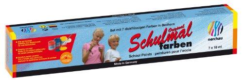 Nerchau 1048887 Malfertige Deckfarben / Schulmalfarben, 7 Farben)